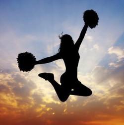 Cheerleader at sunset | Tami McVay - Wellness & Lifestyle Coach