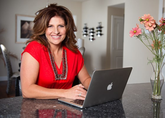 Tami with Laptop | One of the Few | Tami McVay | Marine Veteran | High Performance Mentor